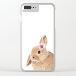 flower bunny Clear iPhone Case
