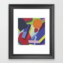Kaws Art Style Framed Art Print