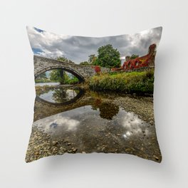 Welsh Cottage Throw Pillow