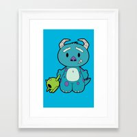 monster inc Framed Art Prints featuring Hello Monster by Pimator24
