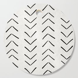 Mud Cloth Big Arrows in Cream Cutting Board