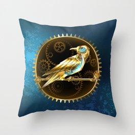 Mechanical Bird ( Steampunk ) Throw Pillow