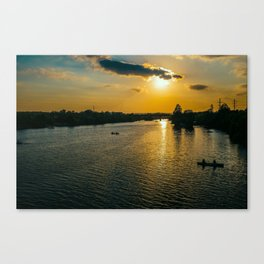 Sunset at Austin Townlake Canvas Print