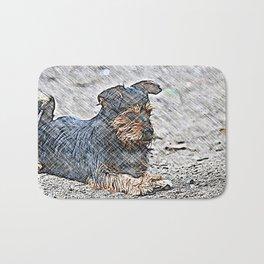 Impressive Animal - sketchy Dog Bath Mat