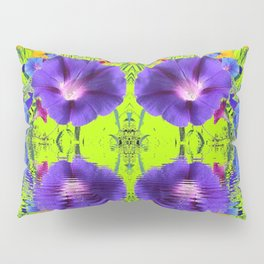 MORNING GLORIES WATER GARDEN REFLECTION Pillow Sham