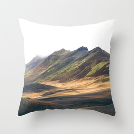 The Colors of Iceland Throw Pillow
