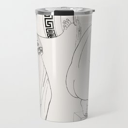 Grecian lady at the bath from An  of the Egyptian Grecian and Roman costumes by Thomas Baxter (1782- Travel Mug