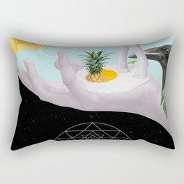 standing on an egg Rectangular Pillow