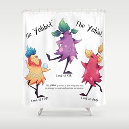 Dancing Yabbuts Shower Curtain