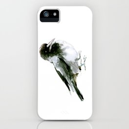 Crow, hooded crow art design iPhone Case