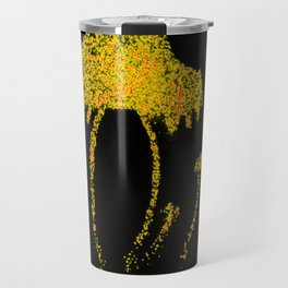 Shrooms Yellow  Travel Mug