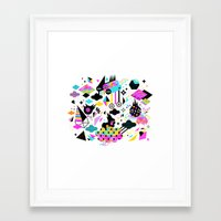 gravity Framed Art Prints featuring Gravity by Muxxi