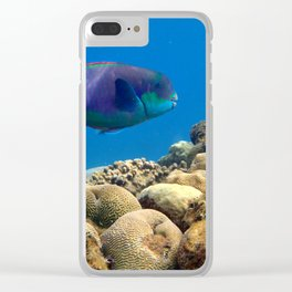 The underwater life Clear iPhone Case