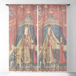 Lady and Unicorn Sheer Curtain