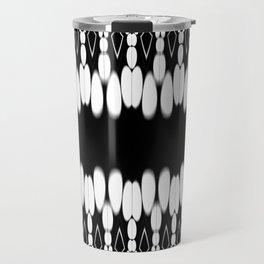 Abstract monochrome pattern Travel Mug