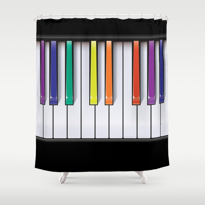Colour Your Music Shower Curtain