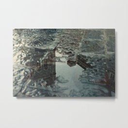 Florence trough a puddle Metal Print