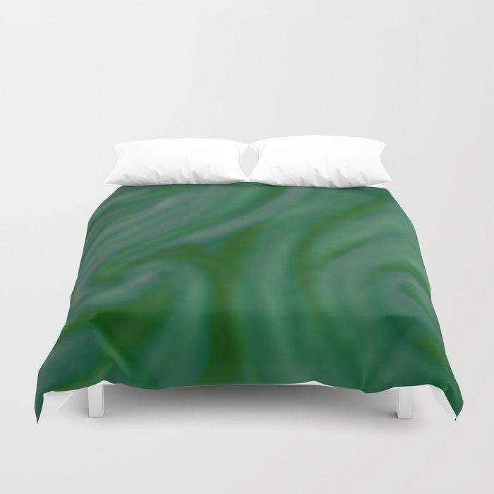 Green SWIRL Duvet Cover