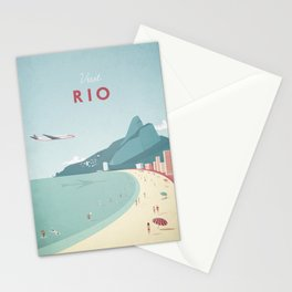 Vintage Rio Travel Poster Stationery Cards