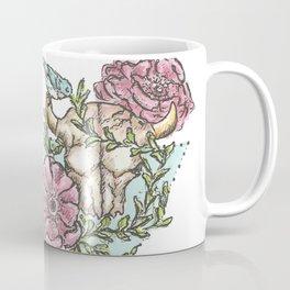 Flowery Animal Skull 01 Coffee Mug