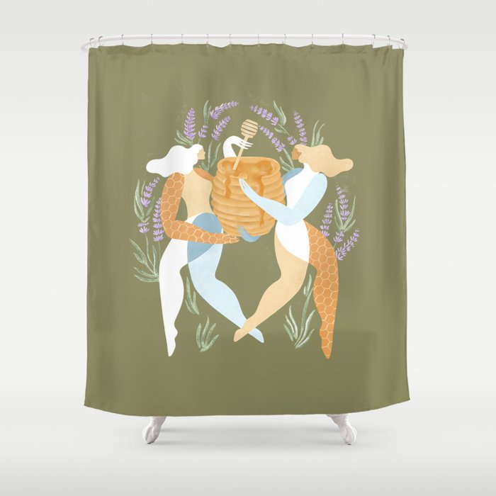 Milk & honey Shower Curtain