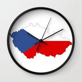 czech republic flag map Wall Clock
