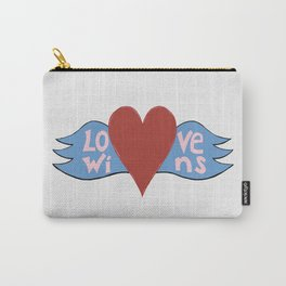 Love Wins!  A Valentine to Love. Carry-All Pouch