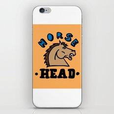 horse head iPhone & iPod Skin