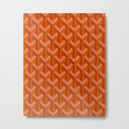 Goyard Orange Metal Print