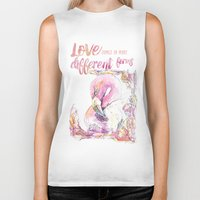 flamingos Biker Tanks featuring Flamingos  by Carvel
