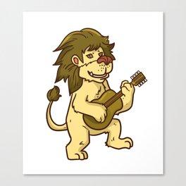 Guitar Lion Canvas Print