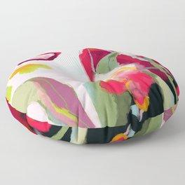 abstract bloom Floor Pillow