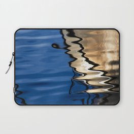 Blue white abstract Laptop Sleeve
