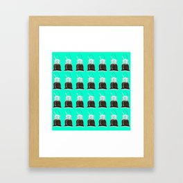 takeaway coffee pattern, mint Framed Art Print