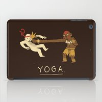 yoga iPad Cases featuring yoga. by Louis Roskosch