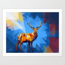 Deer in the Wilderness Art Print