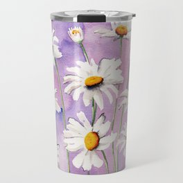 White Daisies Bloom Travel Mug