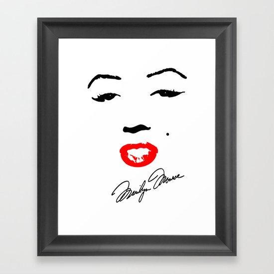 Marilyn Monroe! Framed Art Print