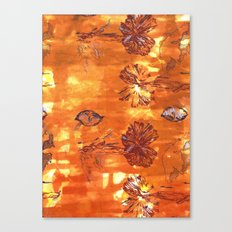 Autumn Colonisation Repeat Screen Print Umber, Lilac and Dioxazine Violet on cotton. Canvas Print