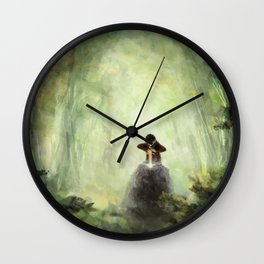 Merlin: Placing the sword in the stone Wall Clock