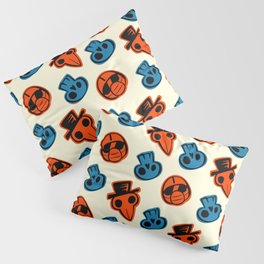 Pandemic Patterns - History Repeats (Colored) Pillow Sham