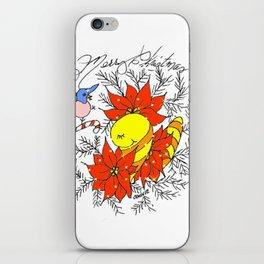 """Poinsettia Pose"" iPhone Skin"