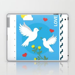 Peace And Love Holiday Invitation Laptop & iPad Skin