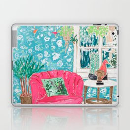 Pink Tub Chair Laptop & iPad Skin