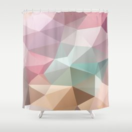 Abstract triangles polygonal pattern Shower Curtain