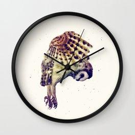 Flying Owl II Wall Clock