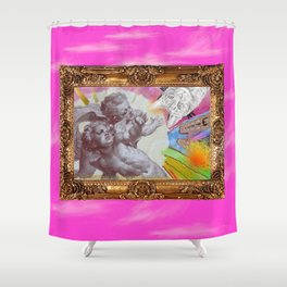 Angelo dell Gatto - Variations on the theme of the Italian Baroque Shower Curtain