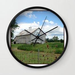 Ohio Bicentennial Barn - Wyandotte County, Ohio Wall Clock