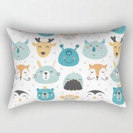 Nursery bundle cute animals Rectangular Pillow