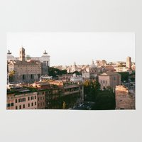 italy Area & Throw Rugs featuring italy by paulina